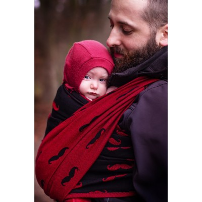 Šatka na nosenie detí Moisha Mustache Merlot