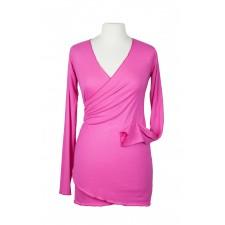 Bambusový zavinovací sveter na nosenie detí Angel wings ružový