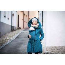 Zimný kabát Angel wings - petrolejovo modrý