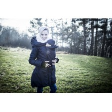 Zimný kabát Angel wings - tmavo šedý
