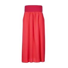 Dámska dlhá sukňa s vreckami Angel wings červená