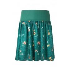 Dámska krátka sukňa Angel wings zelená s bodkami