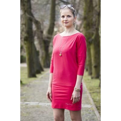Angel wings Dámske šaty malinovo-ružové