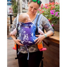 Ergonomický nosič Kaya korra Purple Birds