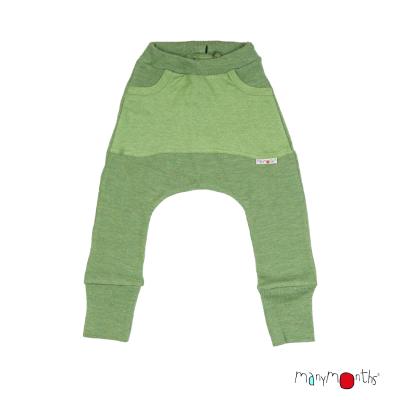 Merino nohavice s veľkými vreckami Manymonths veľ. 3 - 4,5/5 rokov (rôzne farby)