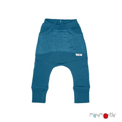 Merino nohavice s veľkými vreckami Manymonths veľ. 1 - 2/2,5 roka (rôzne farby)