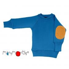 Merino pulóver so záplatami na lakťoch Manymonths veľ. 6 mes. - 2/2,5 roka (rôzne farby)
