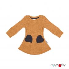 Merino šaty so srdiečkovými vreckami veľ. 1 - 2/2,5 roka (rôzne farby)