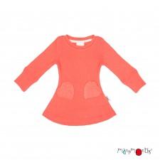 Merino šaty so srdiečkovými vreckami veľ. 3 - 4,5/5 rokov (rôzne farby)