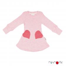 Merino šaty so srdiečkovými vreckami veľ. 3 - 12/18 mesiacov (rôzne farby)
