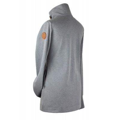 Mikina na nosenie detí bez zipsu na chrbte šedý melír