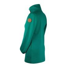 Mikina na nosenie detí bez zipsu na chrbte smaragdovo zelená