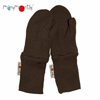 Manymonths rukavice s palcom hnedé