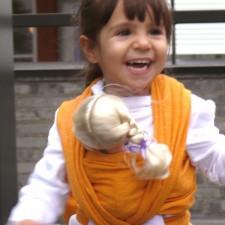 Šatka na bábiky DIDYMOS Prima slnečnožltá