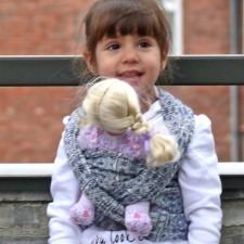 Šatka na bábiky DIDYMOS Prima tmavomodrobiela