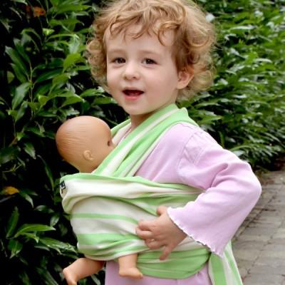 Šatka na bábiky DIDYMOS Štandard zelený