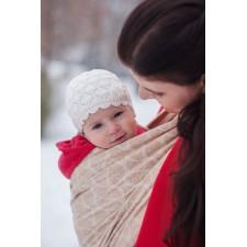 Šatka na nosenie detí Moisha Filigrán Sand