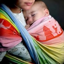 Šatka na nosenie detí Didymos Ostheimer Regenbogen Zauber (Didymos Ostheimer Rainbow Magic)