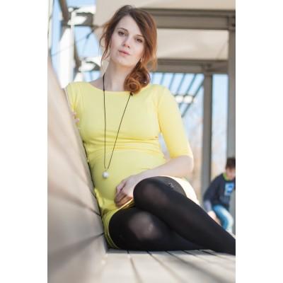 Šaty na dojčenie Angel wings žlté