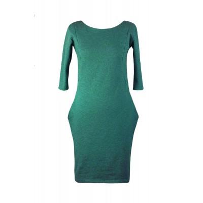 Šaty na dojčenie s vreckami Angel wings smaragdovo zelené