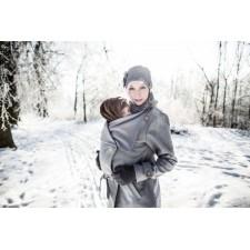 Vlnený kabát Angel wings sivý