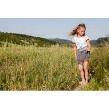 Detská šifónová sukňa Angel wings šedá