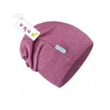 Teplákovinová čiapka ružový melír UNUO