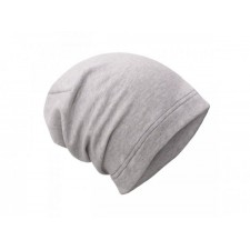 Teplákovinová čiapka šedý melír UNUO