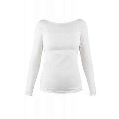 Tričko na dojčenie s dlhým rukávom Angel wings krémové