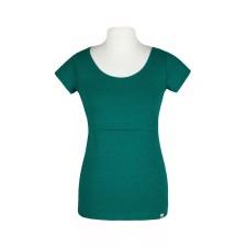 Tričko na dojčenie Angel wings smaragdovo zelené