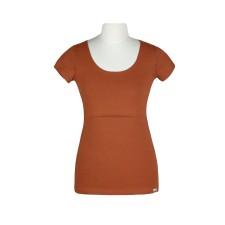 Tričko na dojčenie Angel wings tehlovo oranžové