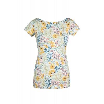 Tričko na dojčenie Angel wings žlté kvety