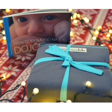 Elastická šatka JPMBB Original (Turquoise/Elephant) + kniha Praktický návod na dojčenie