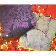 Šatka na nosenie detí Natibaby Bubbles purple veľ. 5 + Mikina na nosenie detí