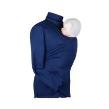 Zavinovací sveter na nosenie detí Angel wings teplejšia verzia - tmavomodrý