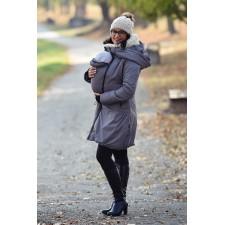 Zimný kabát Angel wings - šedý