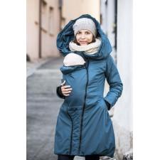 Zimný kabát Angel wings - tmavý tyrkys